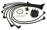 Distributor Cap And Spark Plug Wire Kit With Rotor For Glm 72880 Watercraft Motor