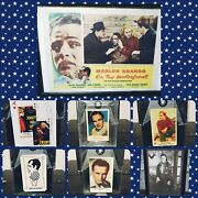 Marlon Brando On The Waterfront Collection Rare Original Posters Collector Cards