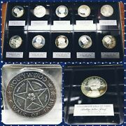 1971 Franklin Mint Hollywood Hall Of Fame Silver Proof Coin Set Marilyn Monroe