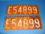 N.j. - 1926 License Plates Pair New Jersey Antique Ford Dodge Brothers