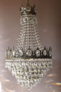 Large Vintage Crystal Chandelier Antique Lighting Lamp For Home Living Decor