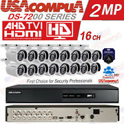 Hikvision Security System 16 Ch 16 Camera Bullet 1080p Turbo Hd Hdd Custom