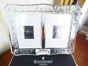 Waterford Crystal Lismore Double Photo Picture Frame 4 X 6 - New / Box