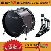 Roland Kd-220 Acoustic Electric 22 Bass Drum Brand New W/ Free Dw Pedal Now