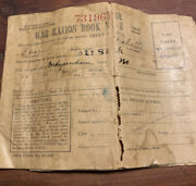World War Ii Ww2 War Ration Book No. 3 With A Lot Of The Stamps From Missouri