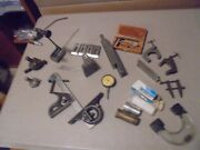 Lot Of 27 Mixed Machine Stop Toolsstarrettlufkinangle Plateclamps.old Test G
