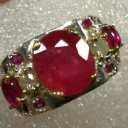 Natural Ruby Ring Red Pigeon Blood Unheated Afghan Real Fine Silver For Men