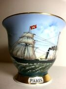 Captain's Cup Hamburg Germany Handmalerei Paris Hand Painted Limited Signed