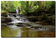 Summerhill Force And Gibsons Cave- Uk... 30 X 20 Canvas Landscape Photography