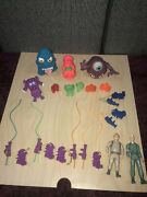 Vtg The Real Ghostbusters Action Figures Ray Egon Ghosts Proton Pack Lot 1984