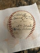 Mickey Mantle Rookie Year Team Signed Ball With Loa