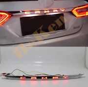 Led Chrome Rear Door Trunk Tail Light Cover For Toyota Camry 18-20 Accessories