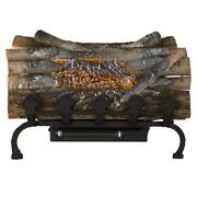 Electric Fireplace Logs 20.5 In. 120-volt Crackling Glowing Embers Grate Heater