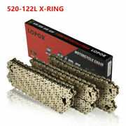122l 520 Golden Heavy Duty O-ring Chain Motorcycle Drive For Honda Cr Xr Crf