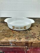 Vintage Fire King Anchor Hocking Golden Wheat Casserole Bowl 450 Low Ship