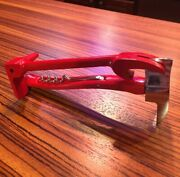 Set Of Irons Bottle Openers Red Halligan- Great Firefighter Gift