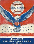 1944 All Star Game Program @ Forbes Field Nationals Roll Rare
