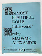 Madame Alexander 1970 The Most Beautiful Dolls In The World Picture Catalog Book