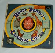 Howdy Doody Laughing Circus Bob Smith 45 Rpm 7 Yellow Vinyl Record Book Wy 414