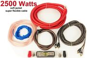 4 Awg Gauge Amp Amplifier Bass Cable Wiring Kit Car Audio High Quality 2000w