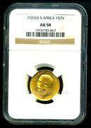 S. Africa 1926 Sa Gold Coin Gv Sovereign Ngc Certified Genuine Au 58 Lustrous