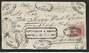 J 1874 Mexico 100 Cents Carmine Front Of Letter Tula Cons 7-80 Numerals Cl