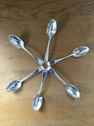 Antique Solid Silver Old English Pattern Set Of 6 Dessert Spoons Lon Don 1841