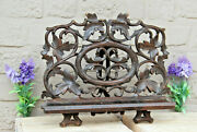 Antique Black Forest Wood Carved German Religious Bible Stand
