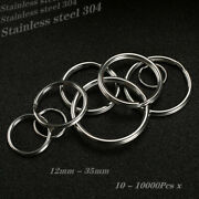 Lot Of Stainless Steel Split Keyring Solid Jump Key Chain 5-35mm 10-10000pcs X