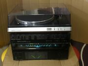 Vintage Sanyo Plus Components Power Amplifier Pre Amp Tuner And Turntable