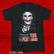 New Saw Jigsaw I Want You To Play A Game Mens Vintage T-shirt