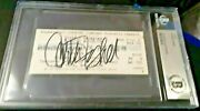 Carrie Fisher Star Wars Iconic Princess Leia Autographed Beckett Ticket Bas Bgs