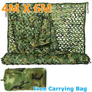 4m X 6m Woodland Camouflage Netting Camping Hunting Military Army Camo Nets Uk