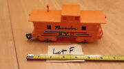Marx Orange Nyc Pacemaker Caboose 4 Wheel Solid Knuckle Coupler - Nice Lot F