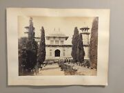 Antique Shepard And Robertson Albumen Print Of India W/ Hand Notes In Pencil Folio