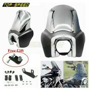 Tall Fairing Windshield Club Style Kit For Harley Dyna Super Glide Fxdxt T-sport
