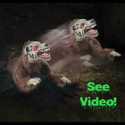 Halloween Animated Mad Dog Devil Led Eyes Evil Sounds Lunging Haunted House Prop