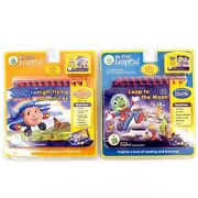Leap Frog My First Leappad Preschool Lot Of 2 Book And Cartridge Brand New Sealed