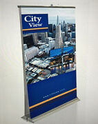 Double Sided Premium Retractable Roll Up Banner Stand, Pop Up Trade Show Stand