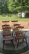 Vintage Nichols And Stone Windsor Arm Chair 2 And 4 Side Chairs Band039ham Alabama