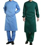 Isolation Gown Green New Size L Pack Of 5 Surgical Gown Reusable High Quality