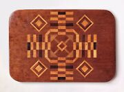 An Antique Inlaid Marquetry American Two Sided Game Board