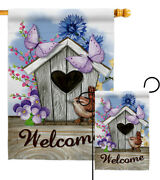 Sweet Bird House Garden Flag Expression Home Small Decorative Gift Yard Banner