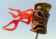Vintage Tiki Burning Eyeball Antenna Topper Ford Chevy Buick Olds- One Piece