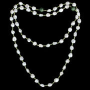 Memorial Day Sale Beaded Pearl Necklace 925 Sterling Silver Handamde Jewelry