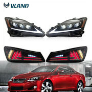 For Lexus Is250 350 Is F 06-12 Led Tail Lights+ Full Led Headlights Front Rear
