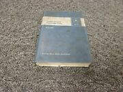 1968-1969 Mercedes Benz 280sl Roadster Pagoda Service Data Specifications Manual