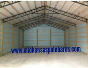 7-40and039 Steel Trusses Pole Barn For A 40x60 Pole Barn