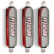 Grey/red Shock Covers Yamaha Yfz450r Banshee Warrior 350 Special Edition Set 3