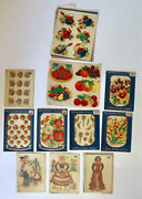 Meyercord Vintage Decals Huge Lot Set Pin-up Fruit Flowers Countries Pots